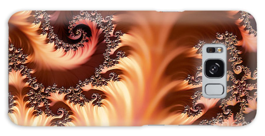 Clay Galaxy S8 Case featuring the digital art Fractal Desert by Clayton Bruster