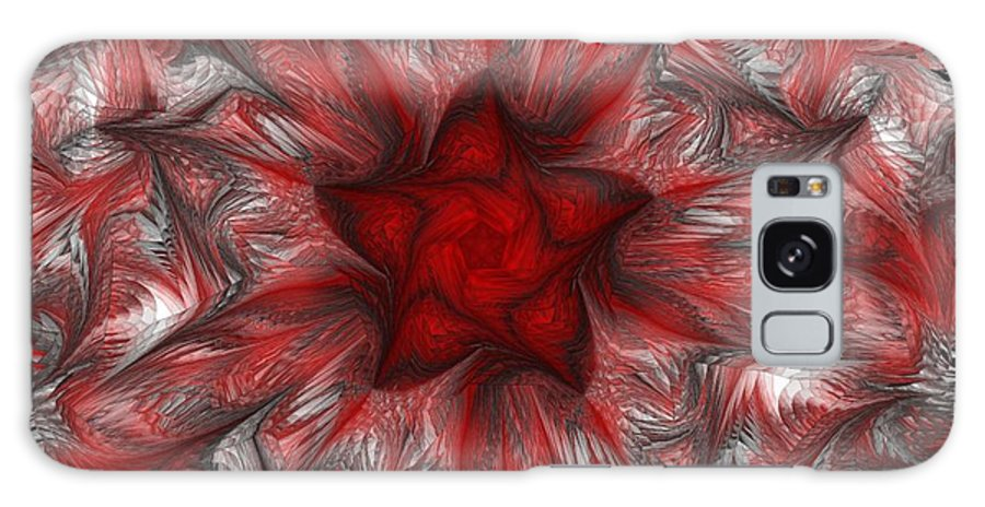 Abstract Digital Painting Galaxy S8 Case featuring the digital art Fractal Garden 3 by David Lane