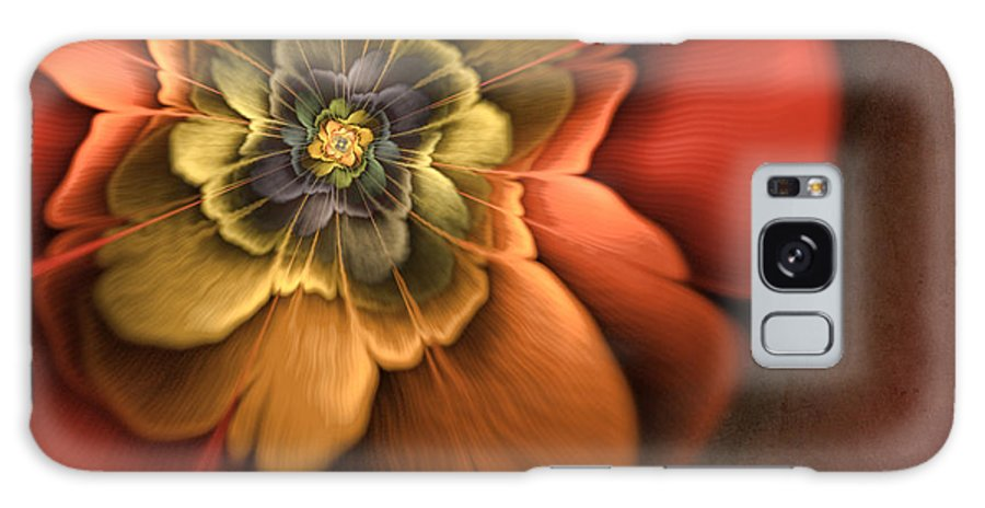 Flame Fractal Galaxy S8 Case featuring the digital art Fractal Pansy by John Edwards