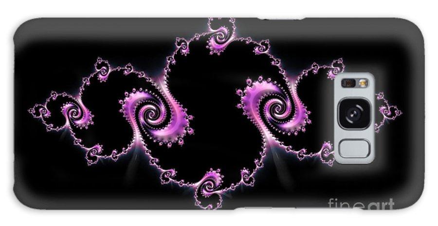 Fractal Spiral Galaxy S8 Case featuring the digital art Fractal Spiral by Ann Garrett