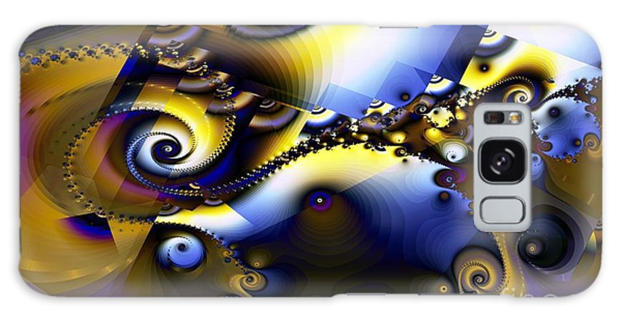 Fractal Galaxy S8 Case featuring the digital art Fractured Fractal Spirals by Ron Bissett