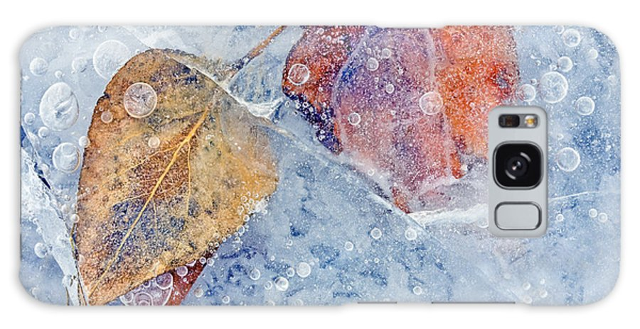 Ice Galaxy Case featuring the photograph Fractured Seasons by Mike Dawson