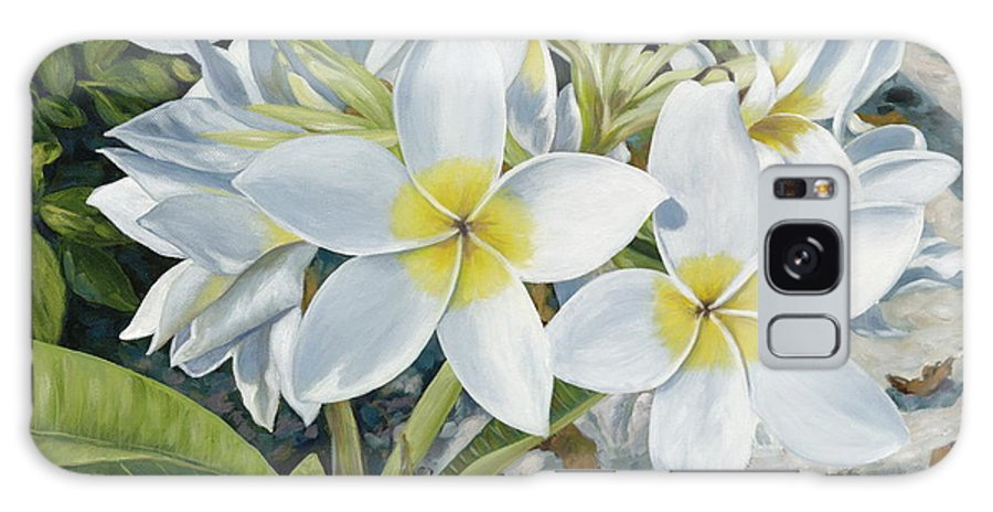 Frangipani Galaxy S8 Case featuring the painting Frangipani by Danielle Perry