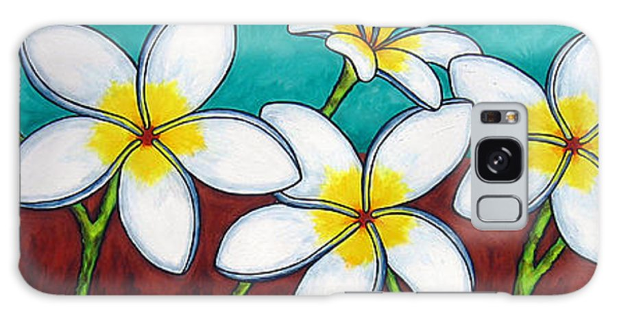 Frangipani Galaxy S8 Case featuring the painting Frangipani Delight by Lisa Lorenz