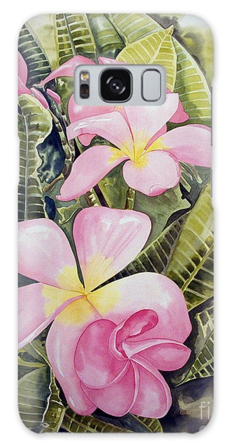 Floral Galaxy S8 Case featuring the painting Frangipani by Kandyce Waltensperger