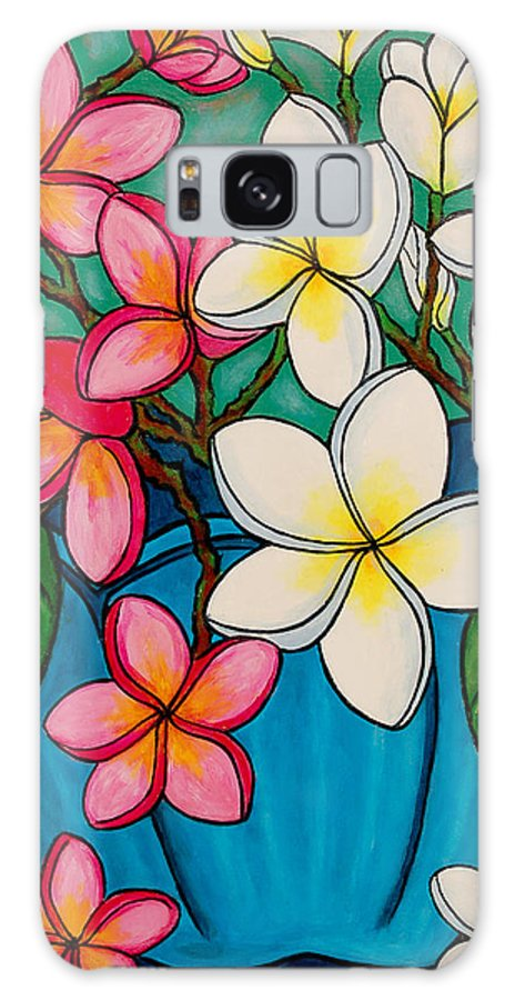 Frangipani Galaxy S8 Case featuring the painting Frangipani Sawadee by Lisa Lorenz