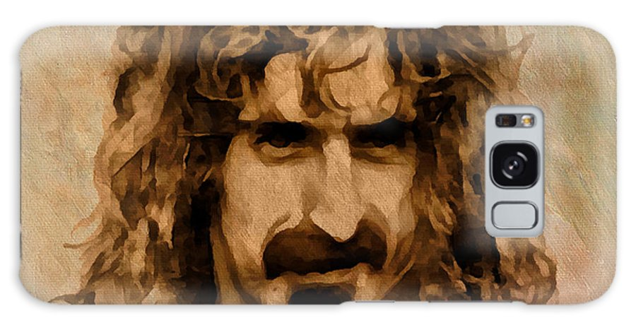 Frank Zappa Galaxy S8 Case featuring the drawing Frank Zappa Collection - 1 by Sergey Lukashin