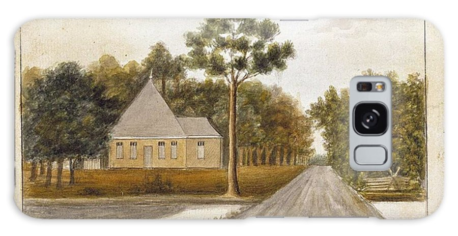 Nature Galaxy S8 Case featuring the painting Fraser Charles  Meeting House In Prince Williams Parish From Untitled Sketchbook by Fraser Charles