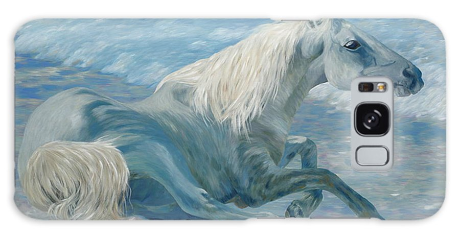 Seascape Galaxy Case featuring the painting Free Spirit by Danielle Perry