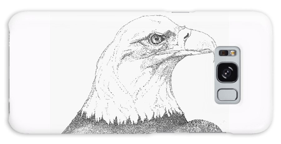 Eagle Galaxy S8 Case featuring the drawing Freedom by Debra Sandstrom
