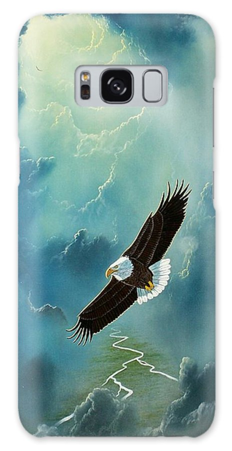 Eagle Galaxy S8 Case featuring the painting Freedom by Don Griffiths