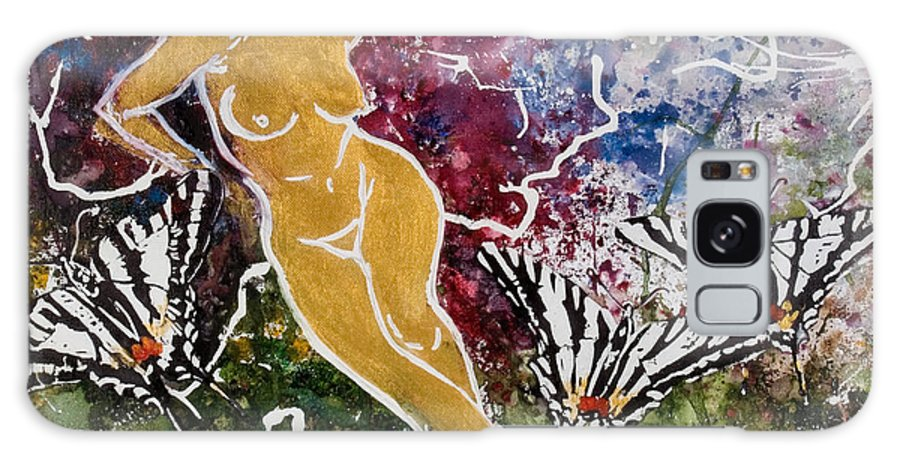 Nude Galaxy S8 Case featuring the painting Freedom by Elisabeta Hermann