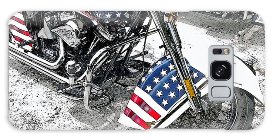 Motorcycle Galaxy S8 Case featuring the photograph Freedom Rider by Suzanne Gaff