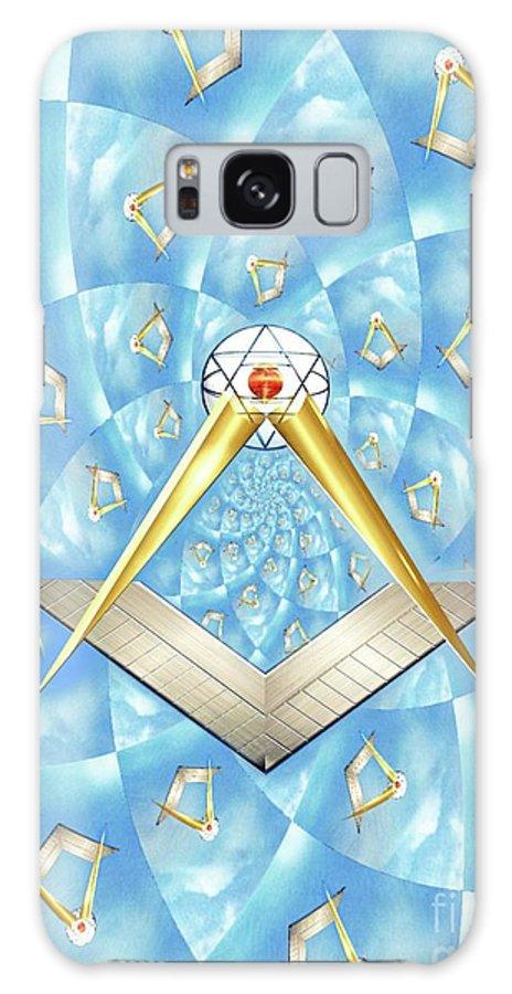 Freemason Galaxy S8 Case featuring the mixed media Freemason Symbolism by Mary Bassett
