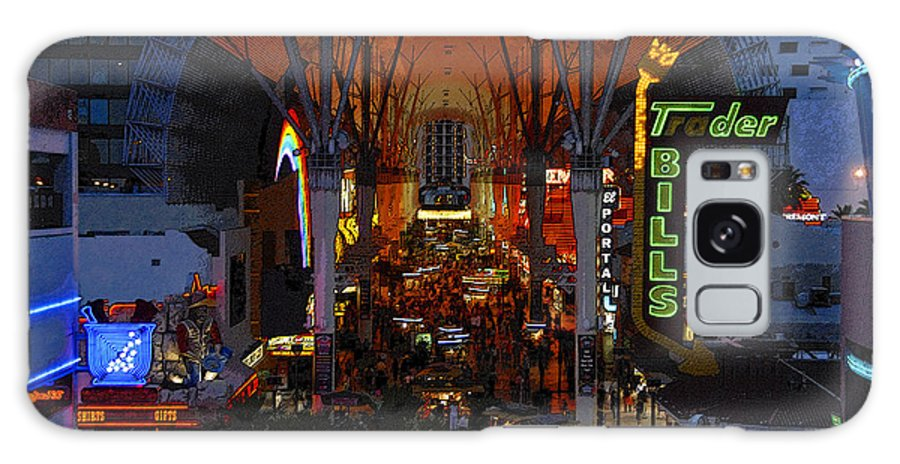 Art Galaxy S8 Case featuring the painting Fremont Street Nevada by David Lee Thompson