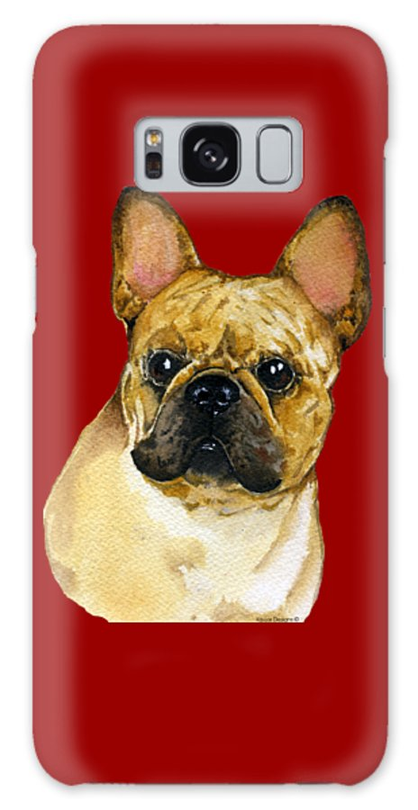 French Bulldog Galaxy Case featuring the painting French Bulldog, Frenchie by Kathleen Sepulveda