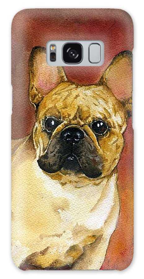 French Bulldog Galaxy S8 Case featuring the painting French Bulldog by Kathleen Sepulveda