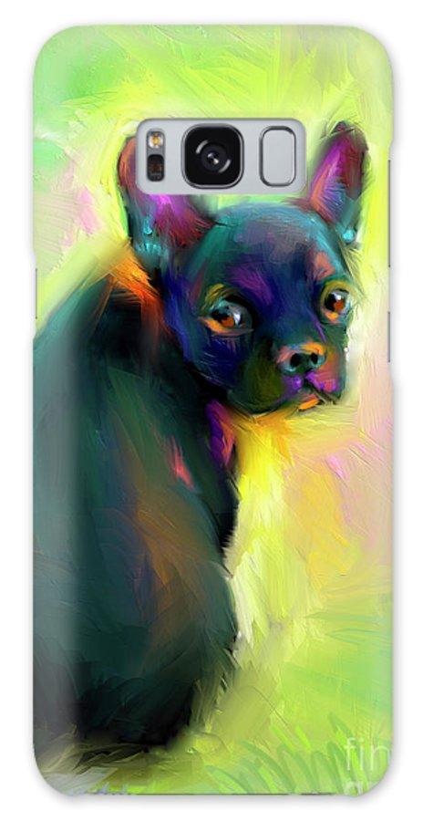 French Bulldog Painting Galaxy S8 Case featuring the painting French Bulldog Painting 4 by Svetlana Novikova