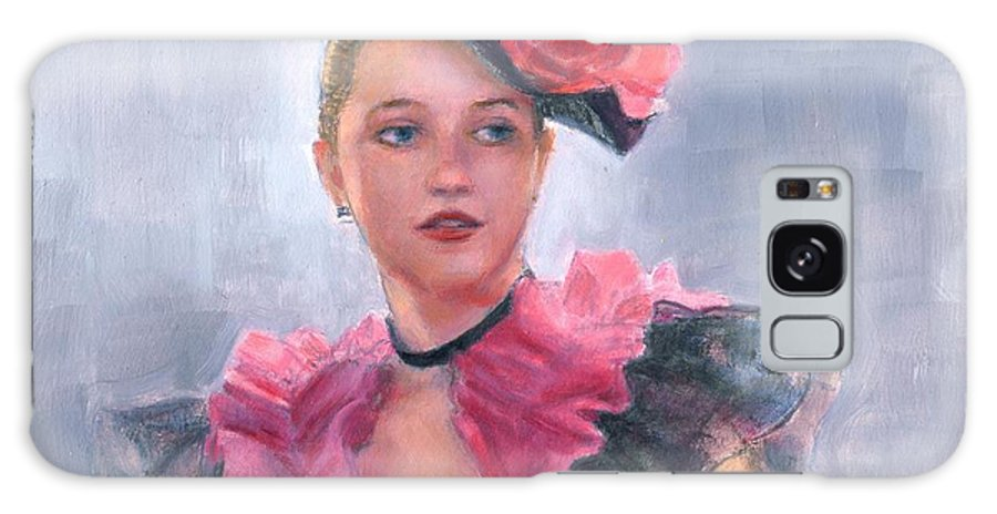 Girl Galaxy S8 Case featuring the painting French Girl by Sue Halstenberg