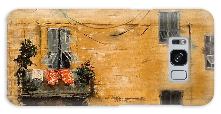 French Galaxy S8 Case featuring the painting French Laundry by Barbara Andolsek