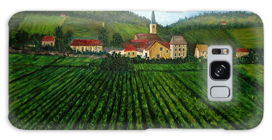 Acrylic Galaxy S8 Case featuring the painting French Village In The Vineyards by Nancy Mueller