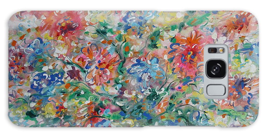 Flowers Galaxy Case featuring the painting Fresh Bouquet by Leonard Holland