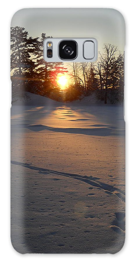 Mississippi River Galaxy S8 Case featuring the photograph Fresh Deer Tracks At Sunrise by Kent Lorentzen