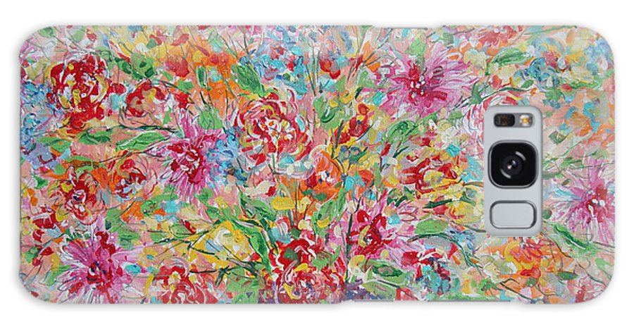 Painting Galaxy S8 Case featuring the painting Fresh Flowers. by Leonard Holland