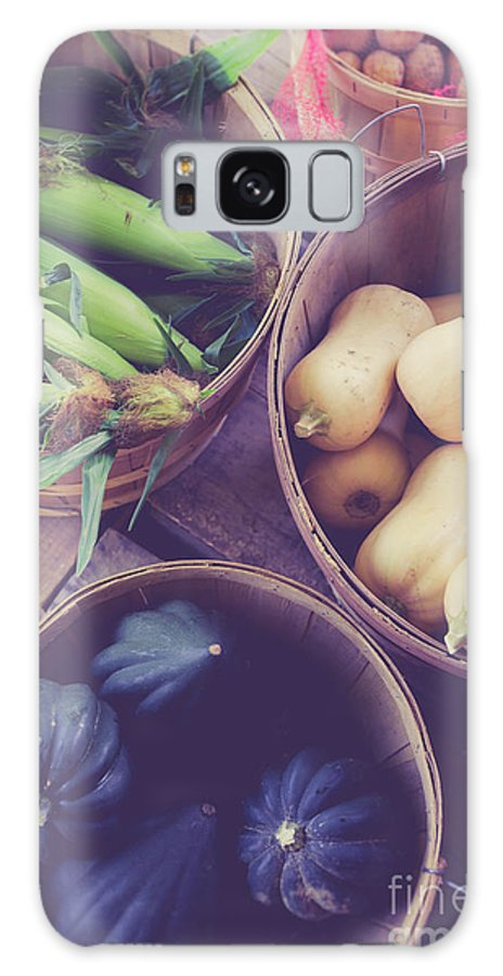 Corn Galaxy S8 Case featuring the photograph Fresh Picked Vegetables For Sale At A Farm Stand by Edward Fielding