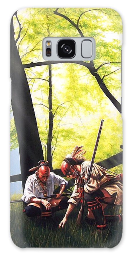Native American Galaxy S8 Case featuring the painting Fresh Tracks by Dan Nance