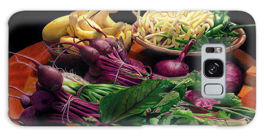 Fresh Vegetables Galaxy S8 Case featuring the painting Fresh Veggies by Peter Piatt