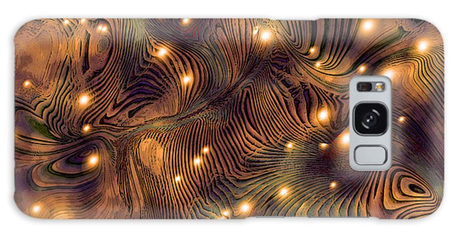 Abstract Digital Art Painting Brown Gold Freshwater Fish Lights Texture Galaxy S8 Case featuring the painting Freshwater by Susan Epps Oliver
