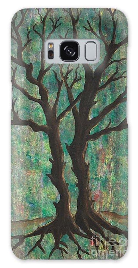 Trees Galaxy S8 Case featuring the painting Friends by Jacqueline Athmann