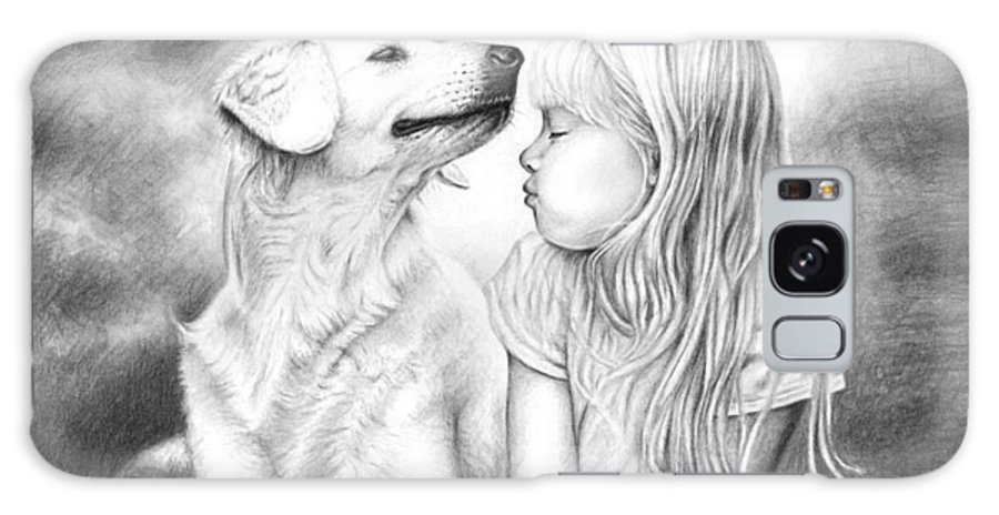 Dog Galaxy Case featuring the drawing Friends by Nicole Zeug