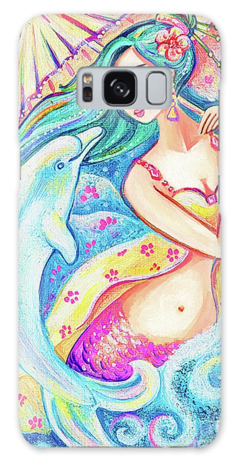 Girl And Sea Galaxy S8 Case featuring the painting Friends Of The East Sea by Eva Campbell