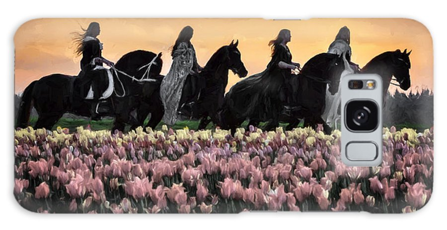 Friesians At Sunset Galaxy S8 Case featuring the photograph Friesians At Sunset by Wes and Dotty Weber