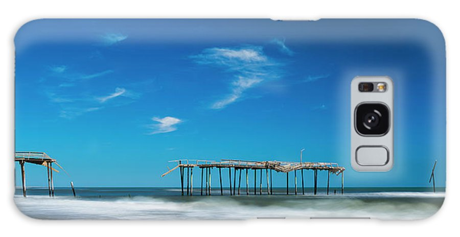 Outer Banks Galaxy S8 Case featuring the photograph Frisco Fishing Pier In North Carolina Panorama by Ranjay Mitra