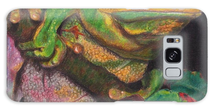 Frog Galaxy S8 Case featuring the painting Froggie by Karen Ilari