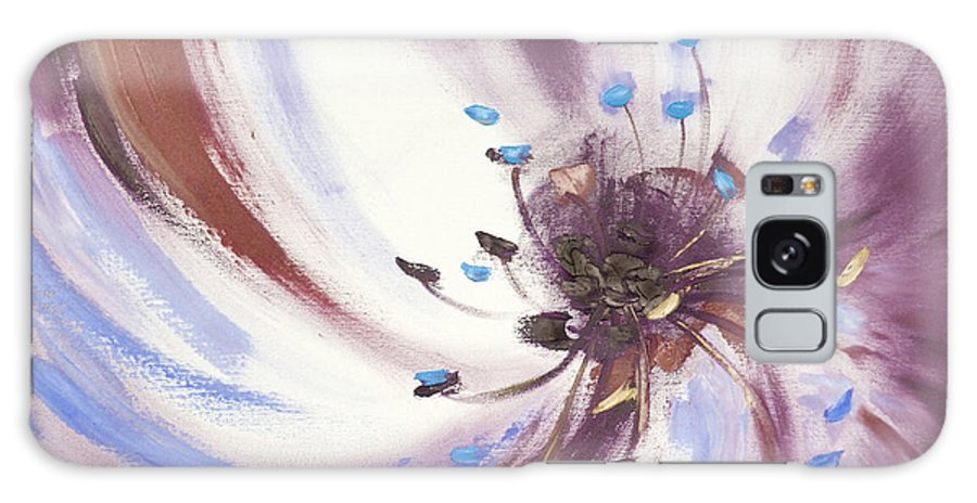Brown Galaxy Case featuring the painting From The Heart Of A Flower Brown 2 by Gina De Gorna