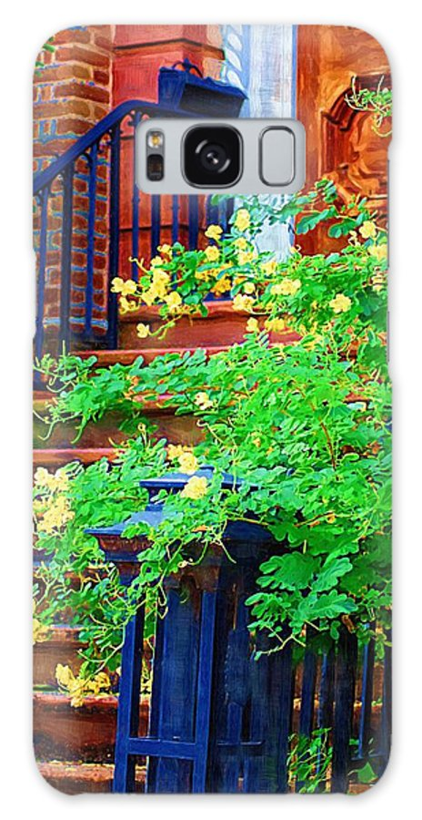 Front Door Galaxy S8 Case featuring the photograph Front Stoop by Donna Bentley