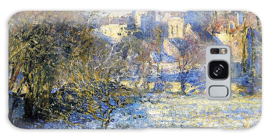 Frost Galaxy Case featuring the painting Frost by Claude Monet