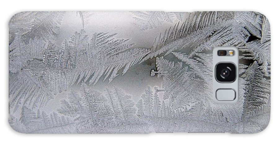 Frost Galaxy Case featuring the photograph Frosted Pane by Rhonda Barrett