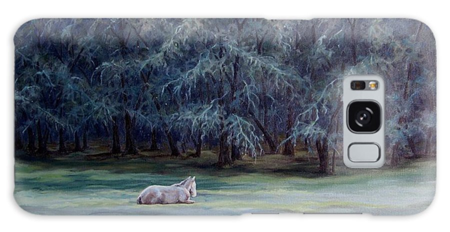 Horse Oil Painting Galaxy S8 Case featuring the painting Frosty Morning by Cynthia Riley