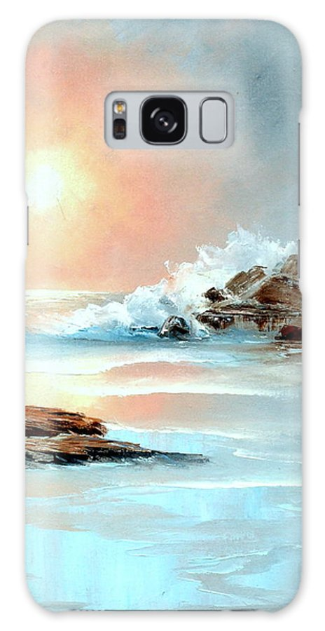 Ocean Galaxy S8 Case featuring the painting Frosty Seas by Sally Seago