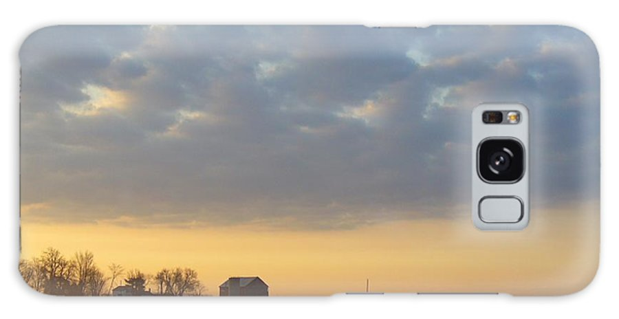 Sunrise Galaxy Case featuring the photograph Frosty Spring Sunrise 2 by Peggy King
