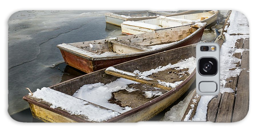 Ogunquit Galaxy S8 Case featuring the photograph Frozen Boats by Scott Patterson
