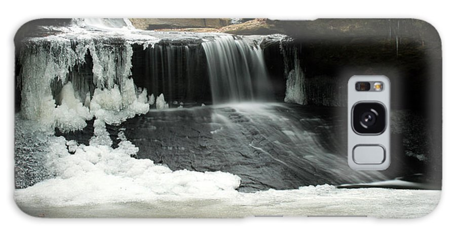 Waterfall Galaxy Case featuring the photograph Frozen Creation Falls by Amanda Kiplinger