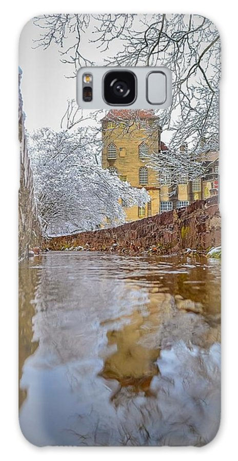 Fonthill Galaxy S8 Case featuring the photograph Frozen Moat At Fonthill by Michael Brooks