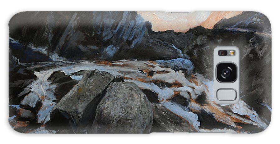 Landscape Galaxy S8 Case featuring the painting Frozen Waterfall by Harry Robertson