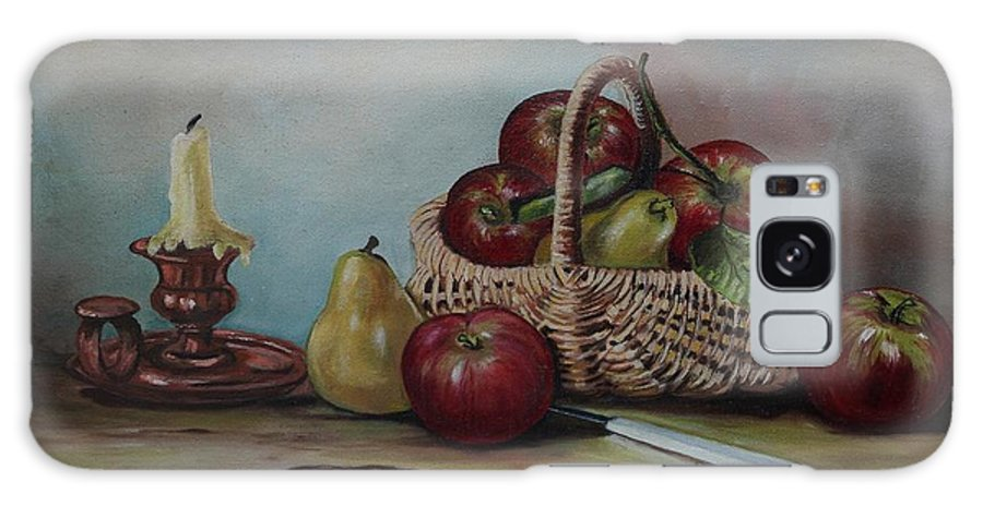 Fruit Basket Galaxy Case featuring the painting Fruit Basket - Lmj by Ruth Kamenev